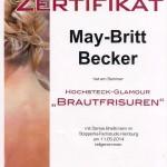 Fortbildung May-Britt Becker Brautfrisuren